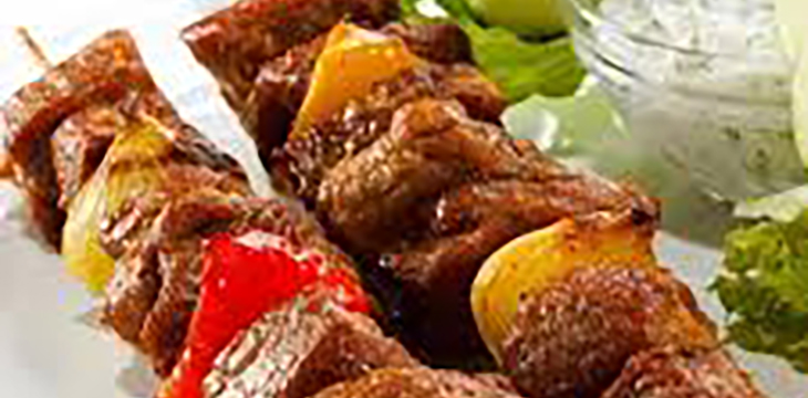 brochette de poulet grillé